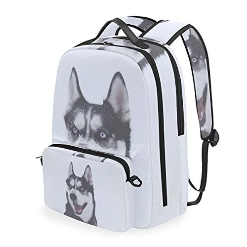 MALPLENA Stupid Husky Mochila de senderismo para perro con bolsa cruzada desmontable