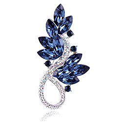 Tree-Blue Brooch Pins Rhinestone with Swarovski Crystal