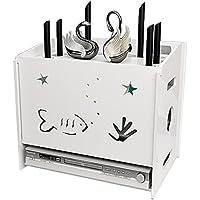 4層フローティングウォールシェルフ、ルーターラックブラケット、テレビセットトップデスクトップストレージボックス、ケーブルオーガナイザーボックス、電源タッププロテクターハイダー (Color : 白, Size : 26×20×23.2cm)
