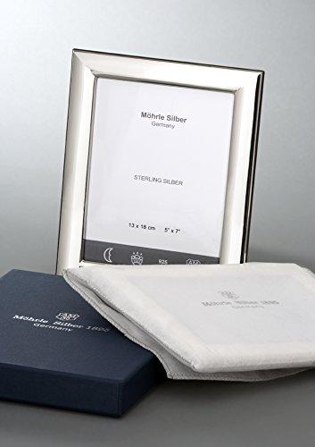 Bilderrahmen Glatt aus 925 Sterlingsilber 9x13 cm