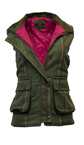 Walker and Hawkes - Chaleco de Tweed para Mujer - Inspirado en la hípica y la Caza - Rayas Rosas - EU 46 (UK 18)