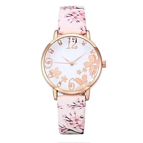 SANDA Reloj Mujer,Las señoras Impresas del Modelo Miran los Relojes de Moda de los Relojes de Las señoras de la Personalidad-Blanco