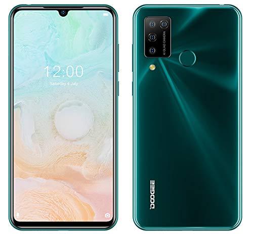 Smartphone Offerta Android 10, DOOGEE N20 PRO (6 GB + 128 GB) Cellulare, Helio P60 Octa-Core, Fotocamera AI Cinque 16MP, Schermo FHD+ da 6,3 , Batteria 4400 mAh, Face ID Impronta Digitale GPS Verde