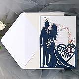 10 Uds.Tarjeta de invitaciones de boda para novia y novio, tarjeta de felicitación de corazón de amor, decoración de Favor de fiesta de boda de San Valentín
