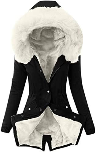 Parka płaszcz zimowy damski ciepły długi elegancki zimowy parka pikowany płaszcz ze sztucznego futra z kapturem wąski płaszcz puchowy kurtka prochowce z kieszeniami płaszcz duże rozmiary