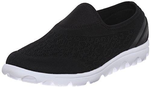Propét Women's TravelActiv Slip-On Sneaker, Black, 9 Wide
