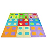 Yes4All Foam Puzzle Play Mat for Kids - Baby Floor Mats/Kids Play Mats - 36 Tiles with Edges%カンマ% Shapes%カンマ% (Model: G3JF) [並行輸入品]