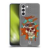 Head Case Designs Pilota Morto Arte del Naso Cover in Morbido Gel Compatibile con Samsung Galaxy S21 5G