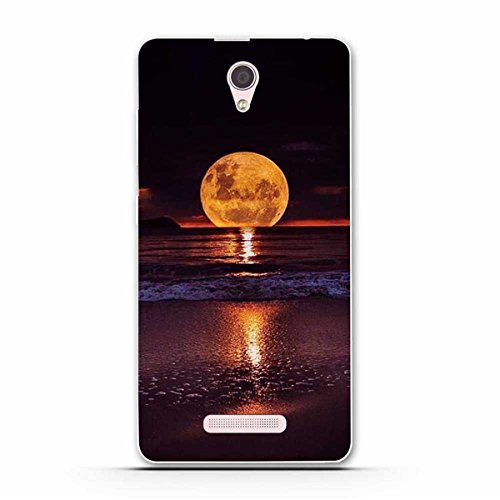 Lenovo A5000 Hülle, Lenovo A5000 Soft Hülle, Gift_Source [ Mond ] Weicher Flexibel Klar Transparent Gel Silikon TPU Hülle Superdünn Stoßfest Tasche Telefon-Kasten für Lenovo A5000 (5 inch)