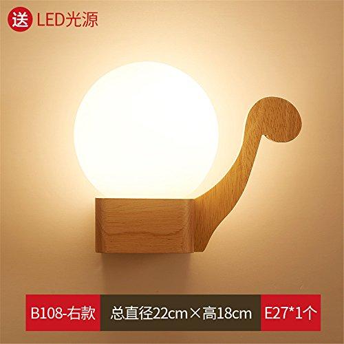 DengWu Wandbeleuchtung Moderne und Minimalistische Rohr Schlafzimmer Doppelbett Wohnzimmer Wohnzimmer Wand Lampen Flur hotel Creative echten Rundholz von Energiesparlampen