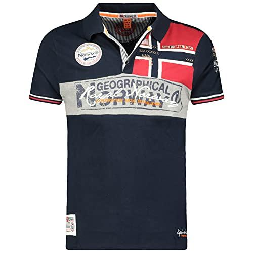 polo uomo in cotone Geographical Norway Kidney Men - Polo da Uomo con Stampa Classica
