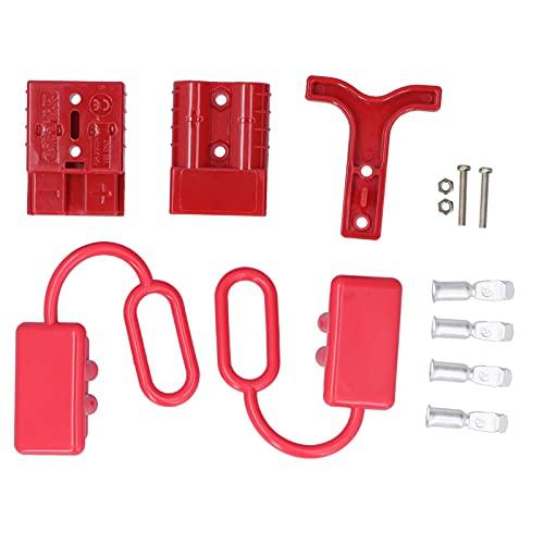 Batería Kit de enchufe de arnés de cables de desconexión de conexión rápida para cabrestante de recuperación con mango 50A 12‑36VDC(Red)
