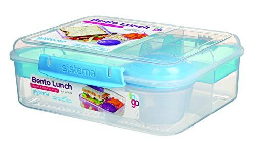 Sistema Bento Lunchbox to Go mit Fruit/Joghurt Topf, mehrfarbig, 1,65Liter (sortiert)