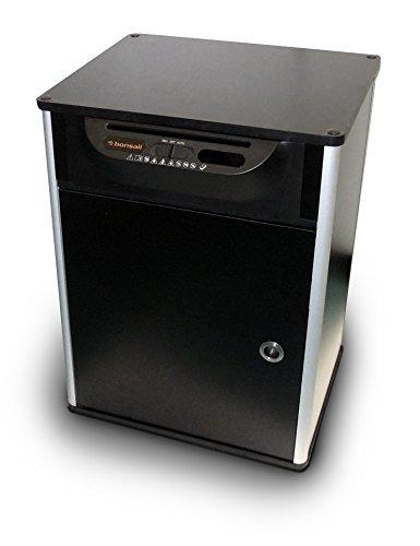 Bonsaii 510910 Docshred | Druckertisch Aktenvernichter |Partikelschnitt | 7 Blatt |10 Liter | 4x20 mm Partikelgröße (P-4) | Maße (LxBxH in cm): 37 x 24 x 12 cm | Belastbar bis 50 kg