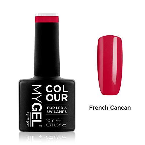 Smalto MyGel, da MYLEE (10ml) MG0006 - French Cancan UV   LED Nail Art Manicure Pedicure per uso professionale in soggiorno ea casa - Lunga durata e facile applicazione