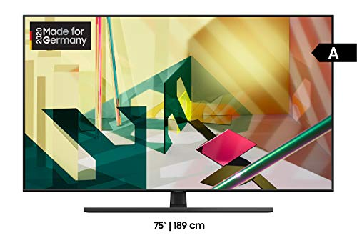 Samsung QLED 4K Q70T 189 cm (75 Zoll) (Quantum Prozessor 4K, Dual LED, Quantum HDR) [Modelljahr 2020]