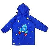 Kinder wasserdichte Jacke Kinder Raincoat Licht atmungsaktive wasserdichte Jungen und Mädchen Baby-Poncho for Kinder Regen Jacke (Farbe: Lila, Größe: S) MEI (Color : Green, Size : Small)