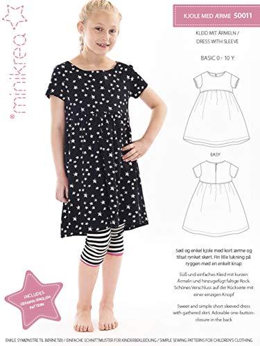 MAGAM-Stoffe Kleid mit Ärmeln Schnittmuster Kinder inkl. Aufnäher Enno
