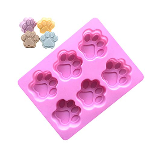 Hocee Nieuwe Uitgegeven Kat Hond Paw Print Siliconen Cookie Cake Candy Chocolade Vorm Zeep Ice Cube Mold