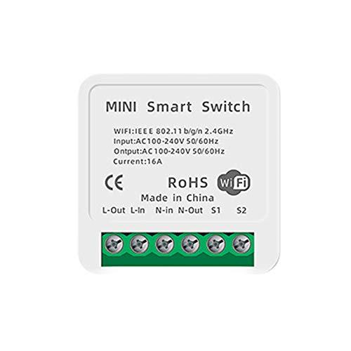 Módulo de interruptor inteligente Mini Wifi 16A, temporizador de interruptor inteligente, interruptor de relé de bricolaje, módulos de automatización del hogar compatibles con Tuya Alexa, Google Home