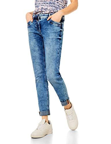Cecil Damen Scarlett Jeans, mid Blue Used wash, W31/L26