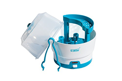 U-Grow Electric Baby Bottle Warmer & 6 Bottle Sterilizer, BPA Free