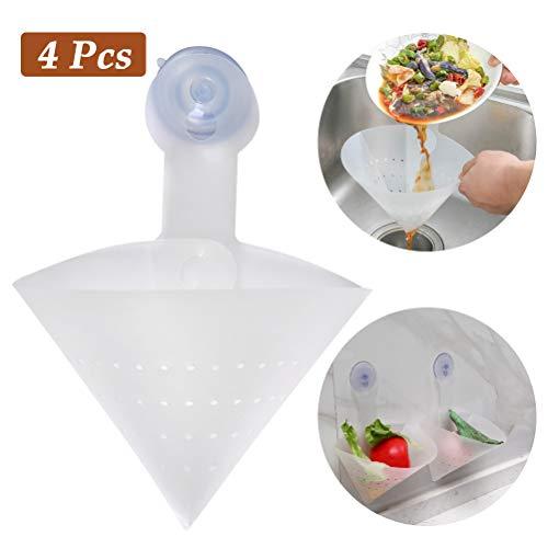FOCCTS 4 Stück Waschbecken Anti-verstopfungsfilter, freistehende Waschbecken Stopper, Küchenspüle Sieb für Küche Bad