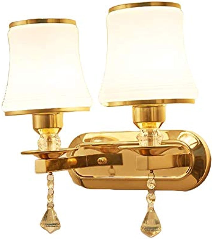Mode Indoor Metall Moderne Wandleuchte, LED 2-Licht Design Dekorative Wandleuchte für Schlafzimmer Büro Kinderzimmer Nachtlicht (Farbe   C, gre   32x31cm)