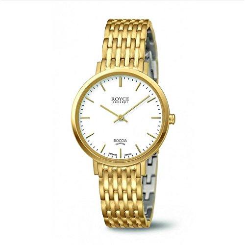 Boccia Damen Analog Quarz Uhr mit Titan Armband 3270-02