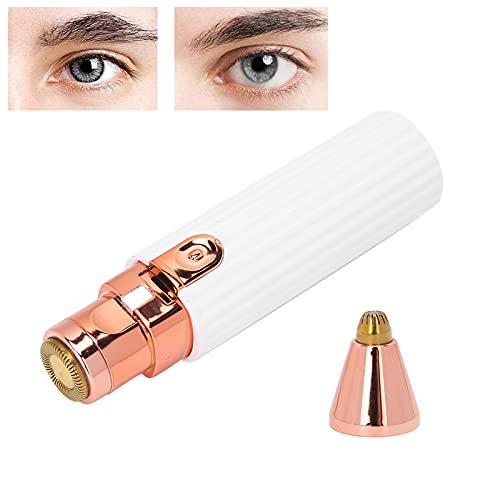Épilateur facial, tondeuse à sourcils charge USB avec câble USB brosse de nettoyage pour menton pour joues pour aisselles