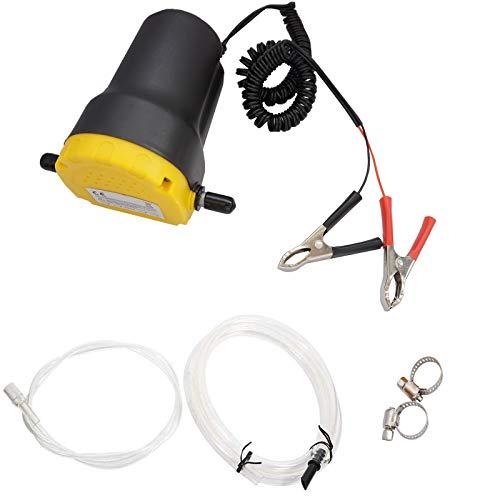 Twowinds - Bomba Extractora de Aceite y fluidos transferencia de Aceite de Motor Bomba de Aceite y Diesel 12V para Coche Moto
