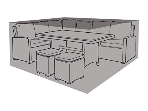 Garland Products Limited SMALL BLACK SQUARE CASUAL DINING SET COVER 250CM FURNITURE PROTECTION