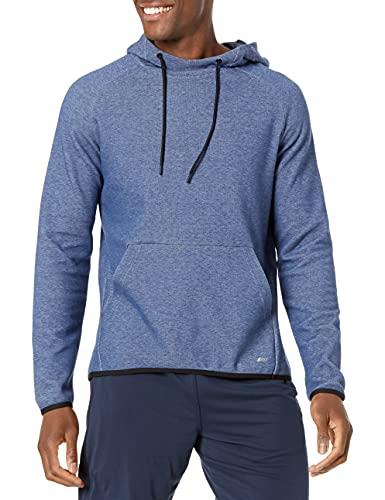 Amazon Essentials Men's Tech Fleece Pullover Hoodie, Blue Heather, Large
