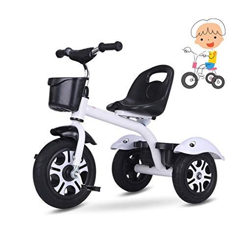 Niños de juguete for montar el triciclo de triciclo de niños niño grande plegado del cochecito niño triciclo niña regalo de cumpleaños del triciclo de tres ruedas 1 principiante 1-6 años de edad, Rojo