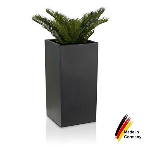 Pflanzkübel DECORAS Kunststoff Pflanztröge – versch. Größen – anthrazit – frostsicher & UV-beständig (8 Jahre Garantie) – TÜV-geprüfte Qualität – Premium Blumenkübel