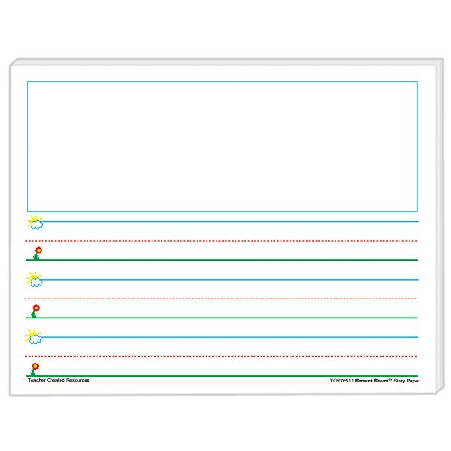 Teacher Created Resources 76511 Smart Start K-1 Story Paper: 100 sheets, White