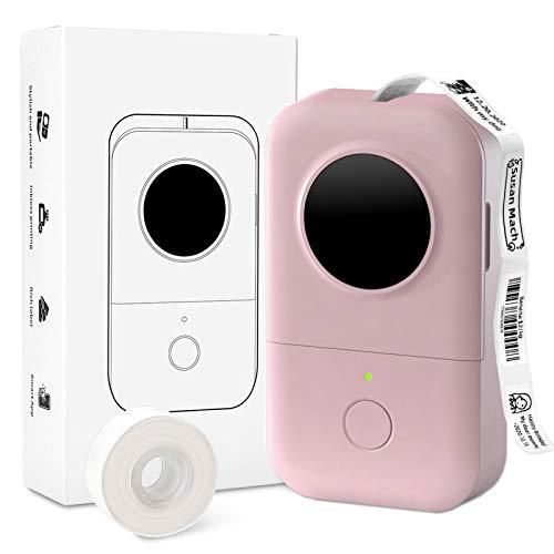 Label Maker-Aufkleberdrucker-D30 1 Drücken Sie Drucken Thermo-Etikettendrucker Bluetooth Adorable Label Sticker Maker, Anfängerfreundlich, kompatibel mit Phomemo D30 iOS Android, Pink