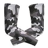 FANTAZIO Ellenbogen-Ärmel, Camouflage-Muster, UV-Sonnenschutz, Kühlarm, Ellenbogen-Kompression