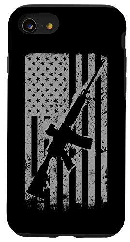 iPhone SE (2020) / 7 / 8 Patriotic USA Flag Guns Vintage 2nd Second Amendment AR17 Case