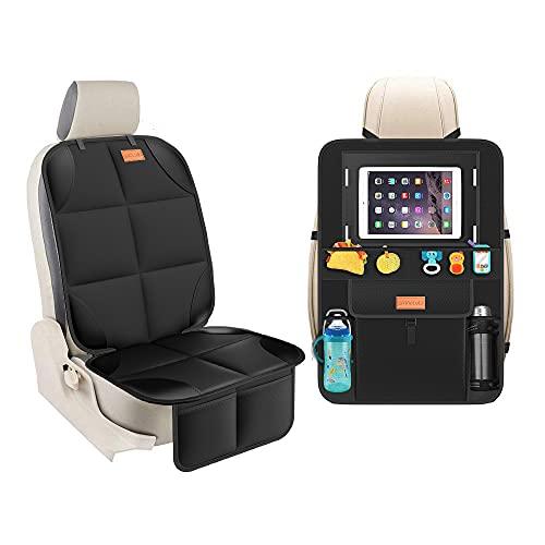 Smart eLf Kindersitzunterlage für Kindersitze - rücksitz organizer- Sitzbezugset vorne / hinten, Schützen Sie Ihren Autositz wirklich in alle Richtungen - decken Sie Ihren Autositz vollständig ab