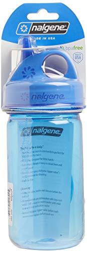 Nalgene Grip-N-Gulp Bottle with Cover, Blue, 12 oz