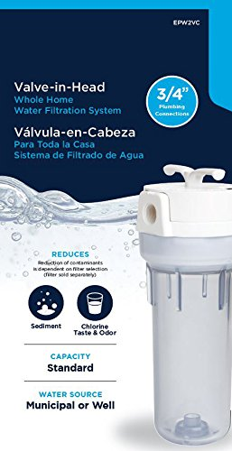 EcoPure EPW2VC Whole Water Filtration System Housing