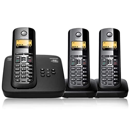 Teléfono residencial inalámbrico avanzado de 2.4G, con Bloqueador de Llamadas molestas y contestador automático Digital (Color: Negro, Tamaño: 3)