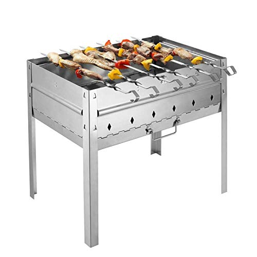 Great Price! Zjnhl Family Gathering/Small Barbecue Outdoor Charcoal Grill Portable Barbecue 5-8 Peop...