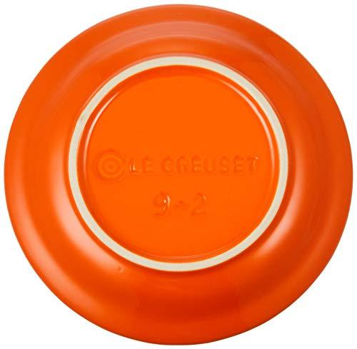 ル・クルーゼ(LeCreuset)皿ラウンド・プレートLC15cmオレンジ耐熱耐冷電子レンジオーブン対応【日本正規販売品】
