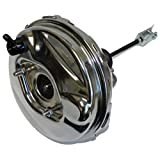 Inline Tube Compatible with 1964-1966 GM A Body 9' Chrome Power Brake Booster Hot Rod Street Disc Drum