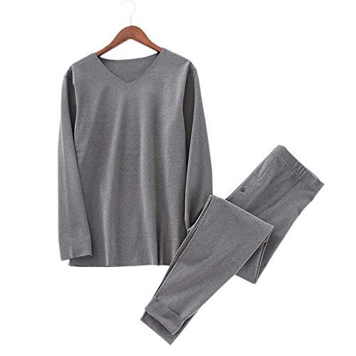 LEYUANA Pyjama,Thermische Unterwäsche Männer, Tops und Unterteile Winter warm...