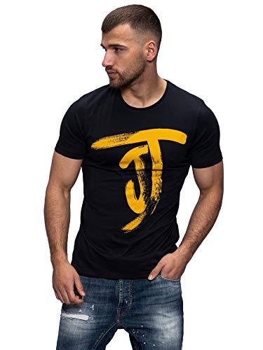 JACK & JONES Herren T-Shirt Kurzarmshirt Top Print Shirt Casual Basic O-Neck (L, Tap Shoe)