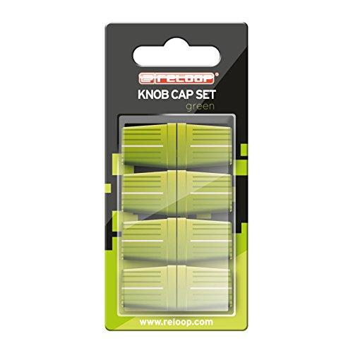 Reloop Knob Cap Set green - 8 Knob Caps, Gummierung für mehr Grip, kompatibel mit vielen DJ-Mixern und Controllern, grün