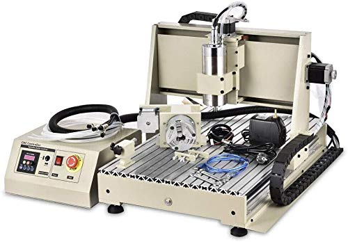 CNC 6040 CNC Router Kit 3/4 Axis CNC Router Machine Acrylic PCB PVC Wood Carving DIY Ideas Milling Engraving Machine (USB 4 AXIS CNC 6040)